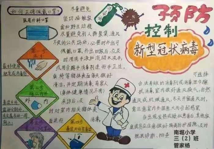 下面请看,孩子们的手抄报作品一一如何预防新型冠状病毒!