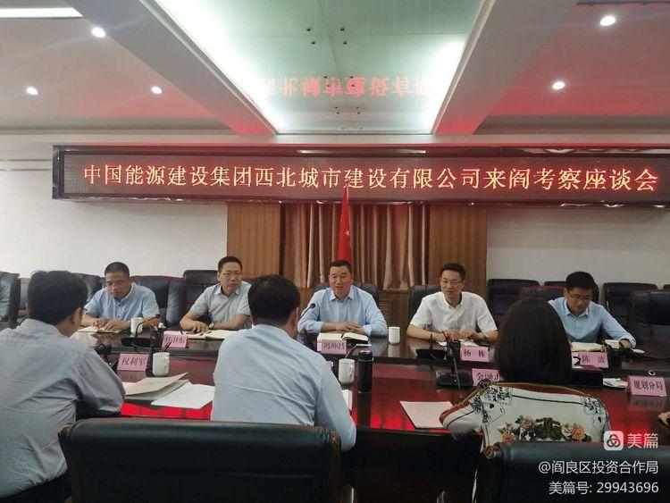 中国能源建设集团西北城市建设有限公司来阎投资考察
