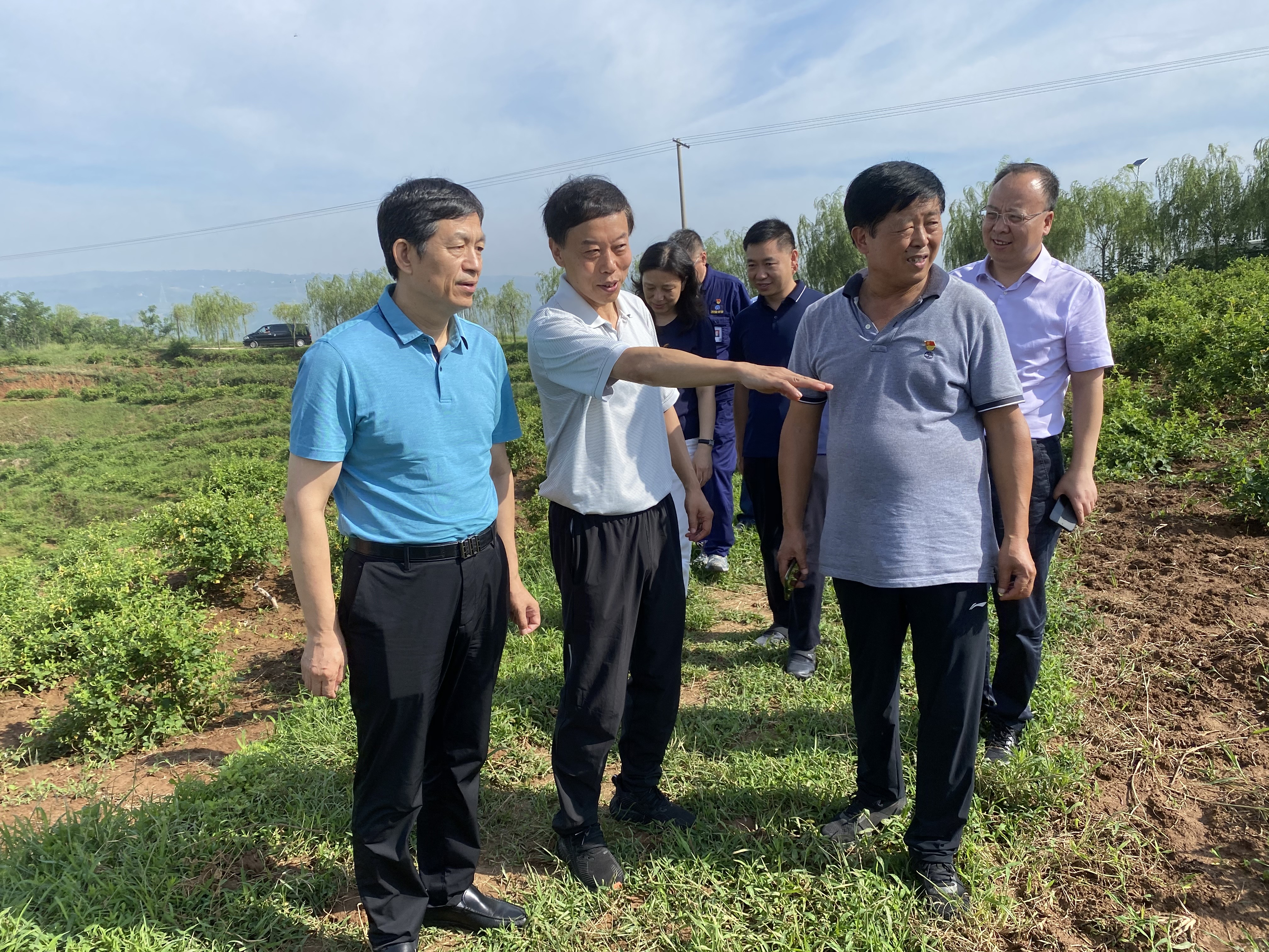 西安市国资委到城投集团帮扶村督导产业扶贫工作