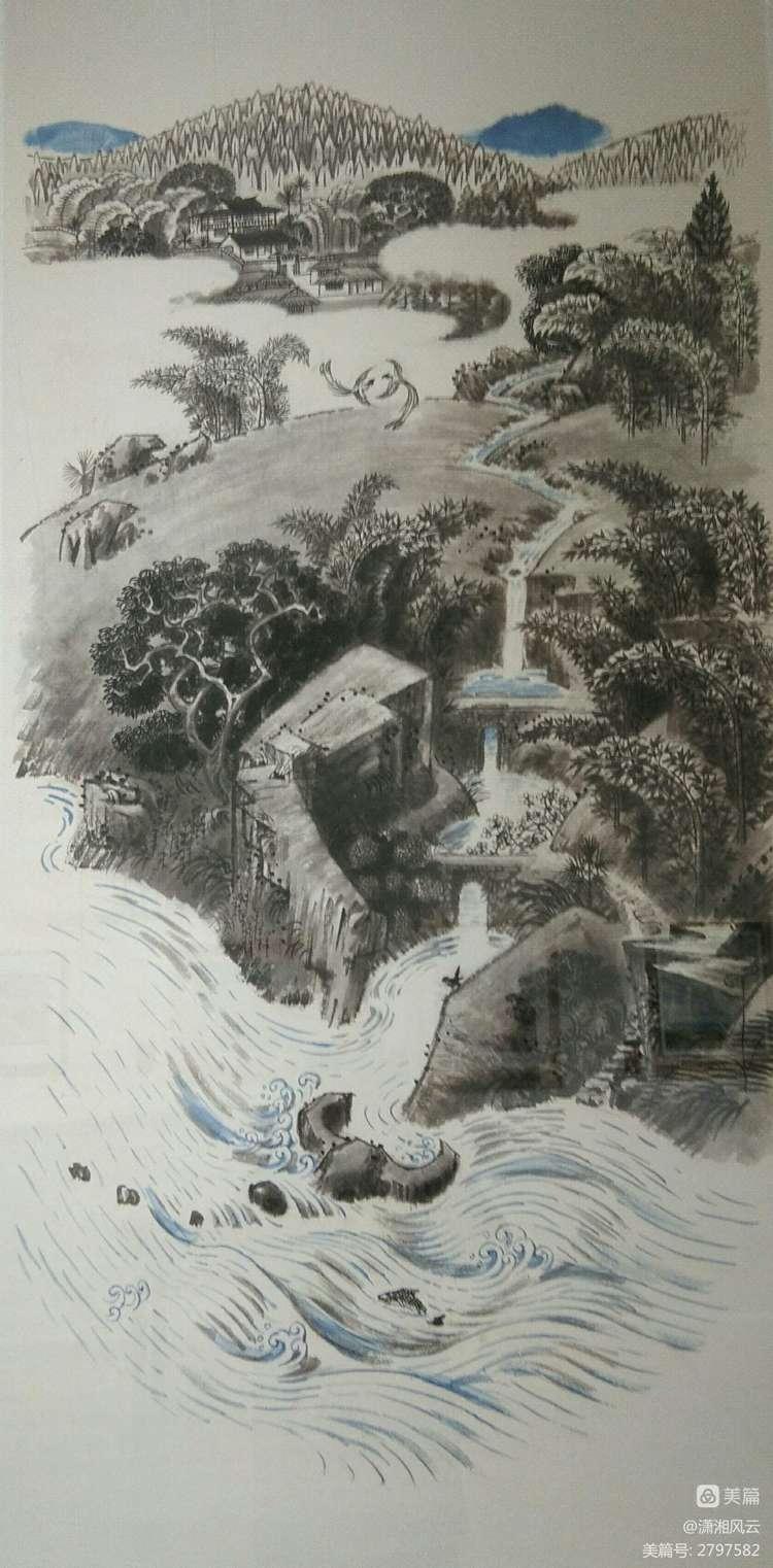 80幅周令钊的神画之作,惊艳了祖国,醉美了山川(图13)