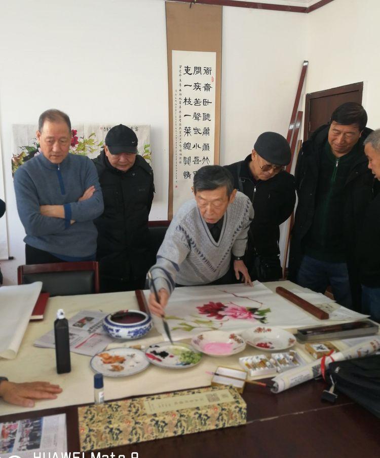 包头市老年书画研究会举办书画讲座