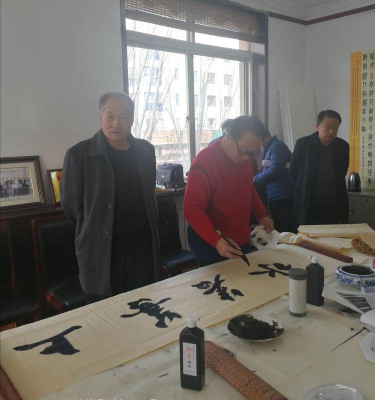 包头市老年書画协会举办全体理事及有关人员:不忘初心,牢记使命大型筆会