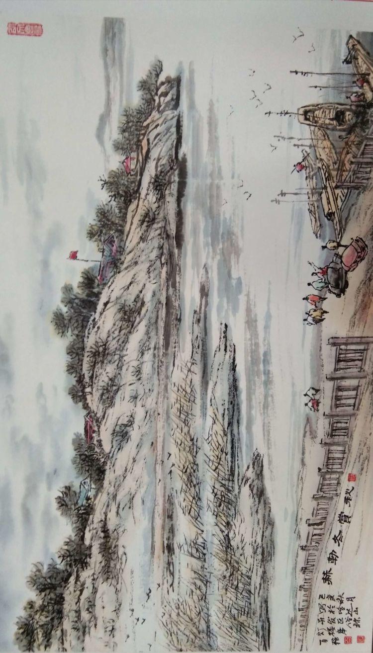 吉林省松原市前郭尔罗斯蒙古族自治县老年诗书画研究会2019年诗书画百米长卷