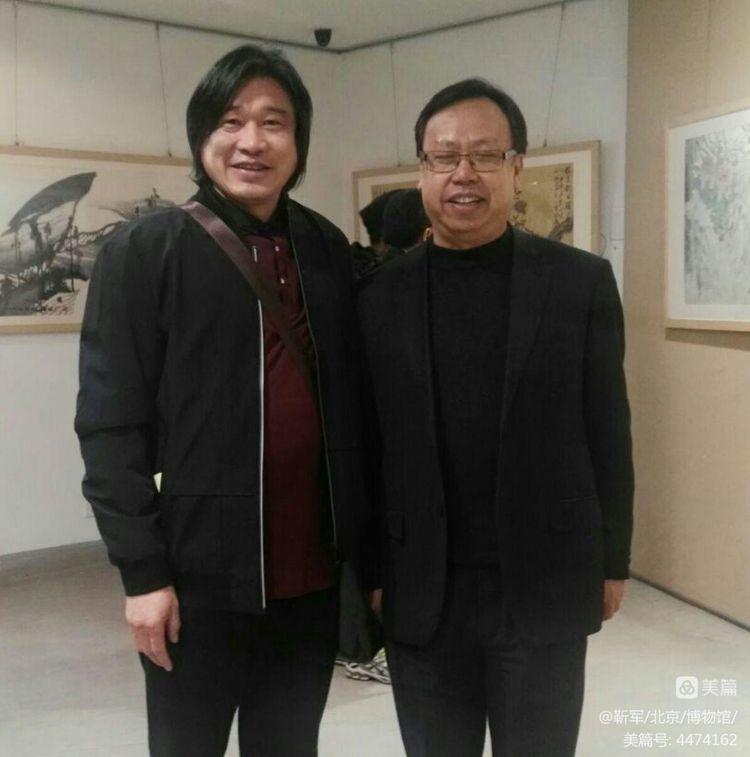 著名画家靳军的道家创作环境