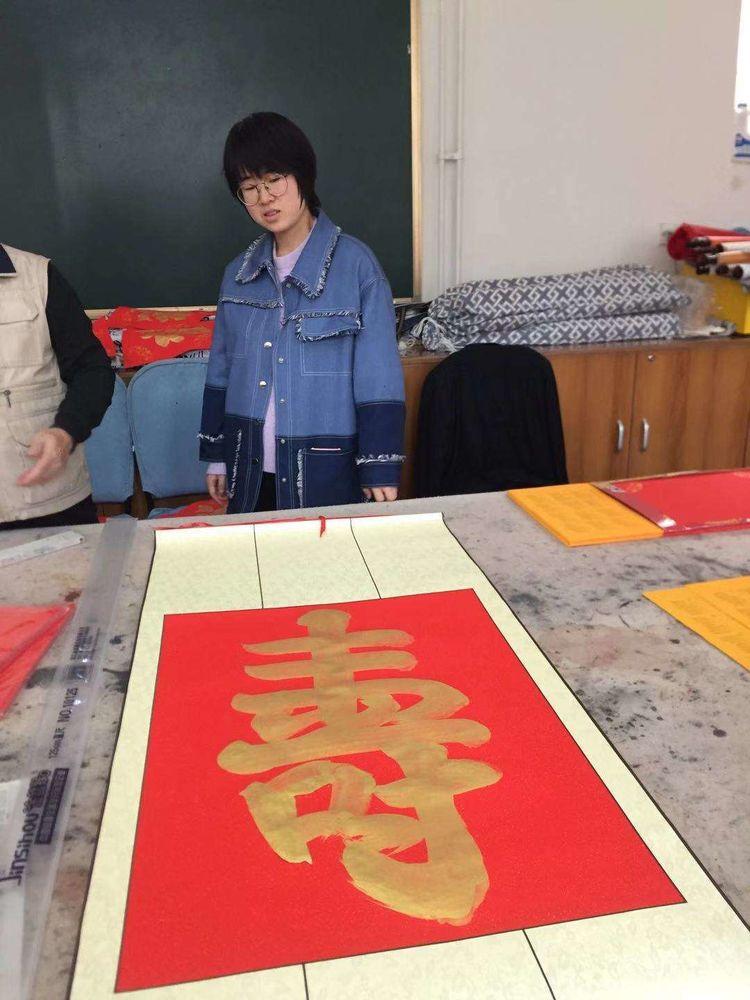 北京市石景山区老年书画研究会书法创研班、小楷学习班忙在2019年12月