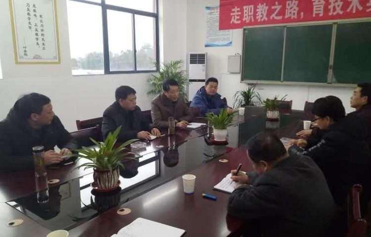 市县教育主管部门领导实地调研怀宁县中等专业学校