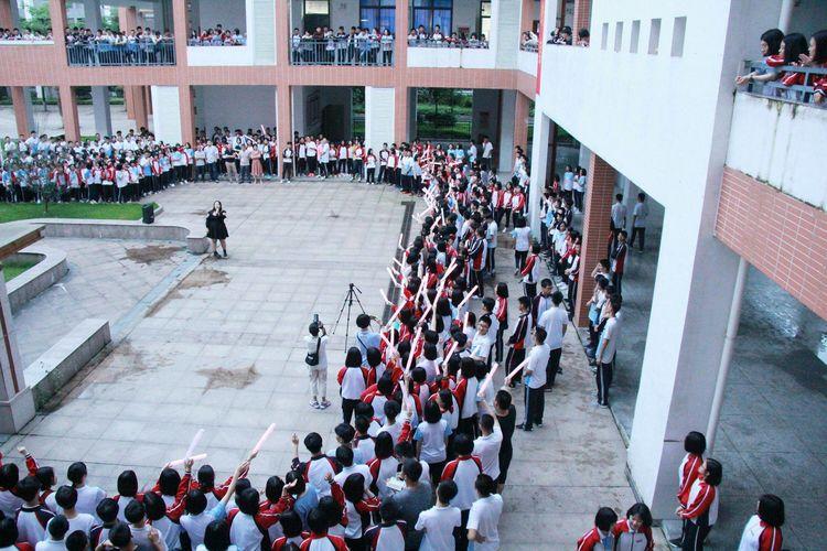 """沙县一中2019年""""高三加油""""喊楼活动"""
