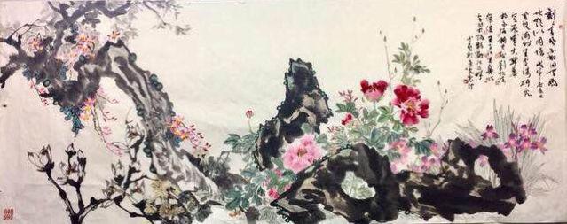 《筆墨传真爱、同心战疫魔》一一一海外王雪涛研究会艺术家书画作品网上展