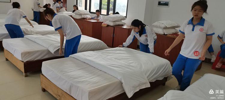 昌江县职业教育中心2021年春季学期中式铺床技能大赛(图7)