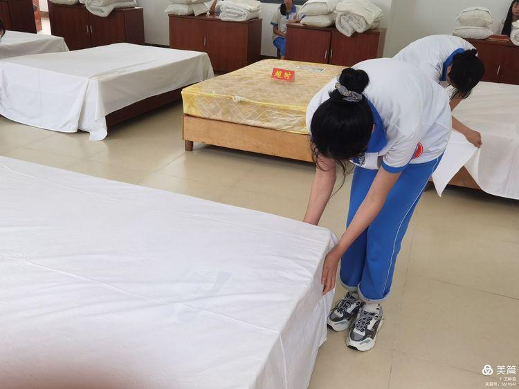 昌江县职业教育中心2021年春季学期中式铺床技能大赛(图6)