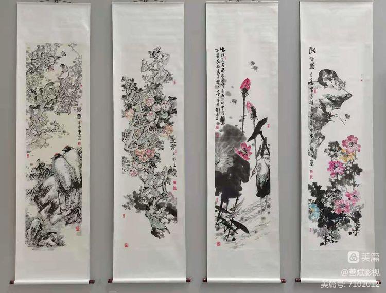 """""""文心 · 诗意""""孙绪昌书画艺术作品展,于5月15日上午在聊城公园书画展厅隆重开幕。"""