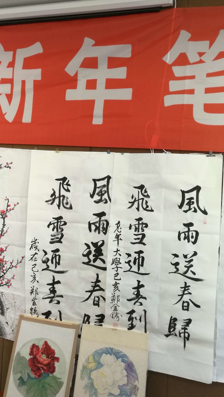 内蒙古兴安盟中老年女子书画协会书画室隆重举行迎新年笔会