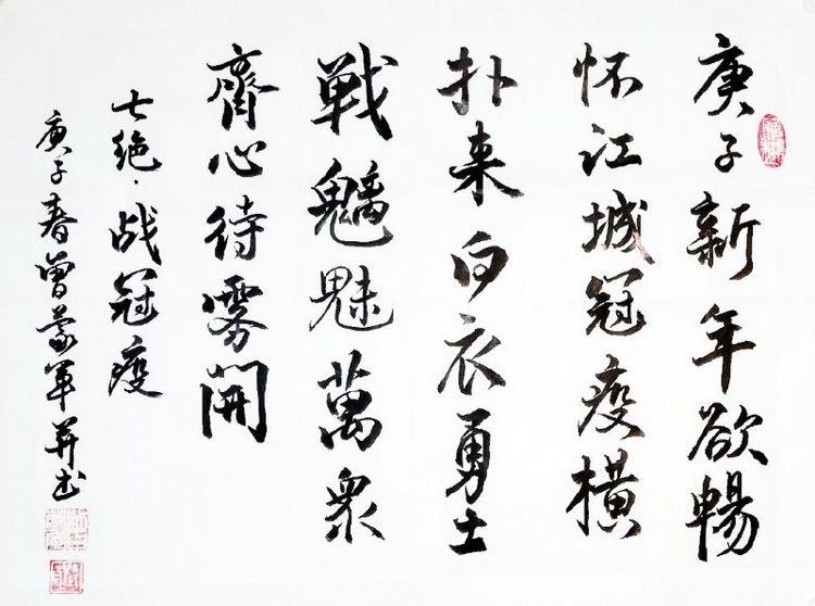 贵州省老年书画研究会本部抗疫书画作品选(一)